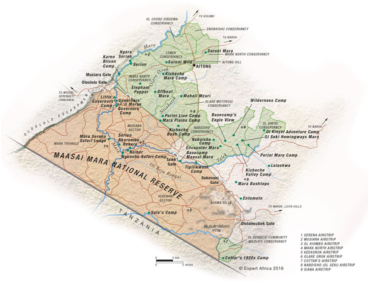 Masai Mara national park map